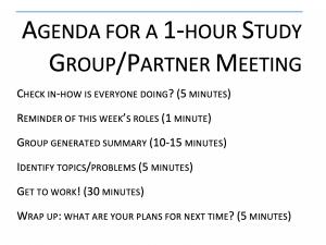 Image of Study Group Agenda
