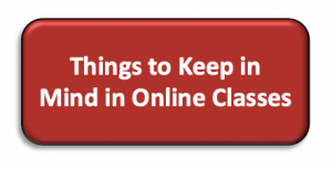 link to things to keep in mind in Online classes